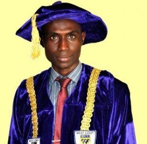 UNESCO Laureate World Acclaimed Distinguished Professor Sir, Bashiru Aremu, the Vice Chancellor, Crown University Intl Chartered Inc.