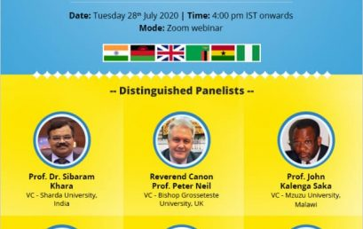 Global Webinar Conference: UNESCO Laureate, Professor Sir Bashiru Aremu Emerges Panelist Amongst Other VCs